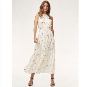 Wilfred Effet Maxi Dress, Oak/Citrico, Sz Small